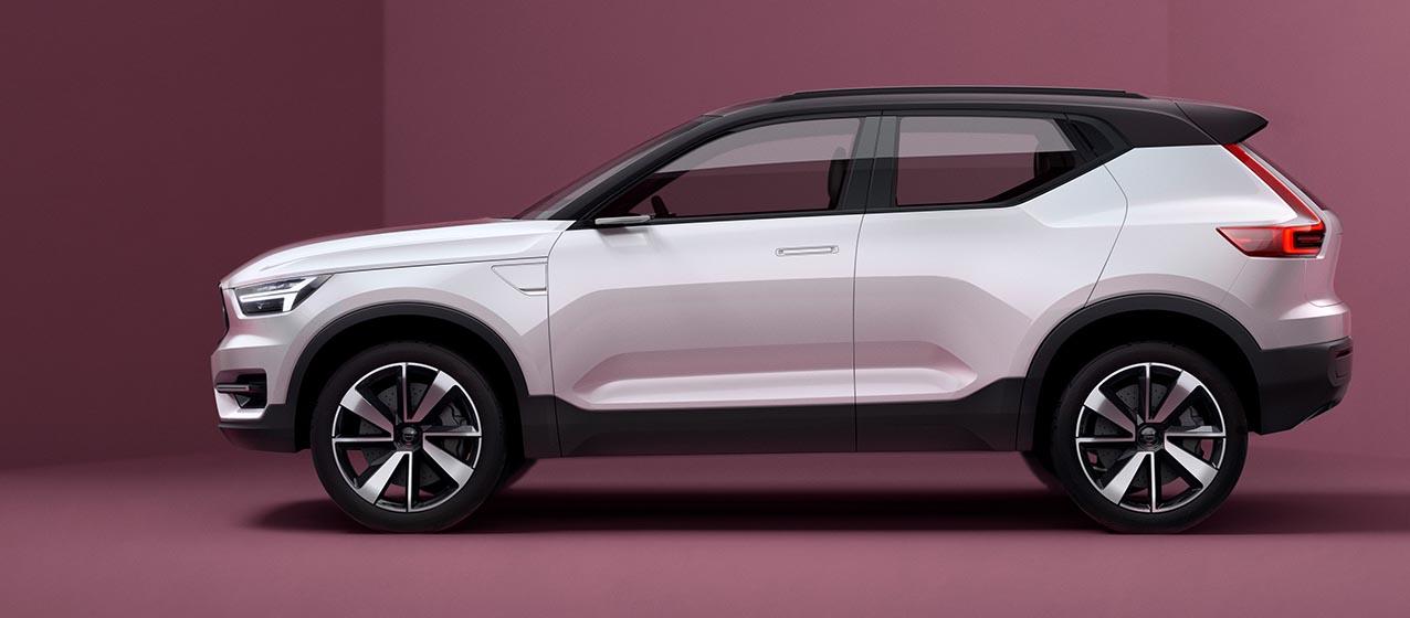 Volvo Concept 40.1, en mindre SUV baserad på CMA-plattformen.