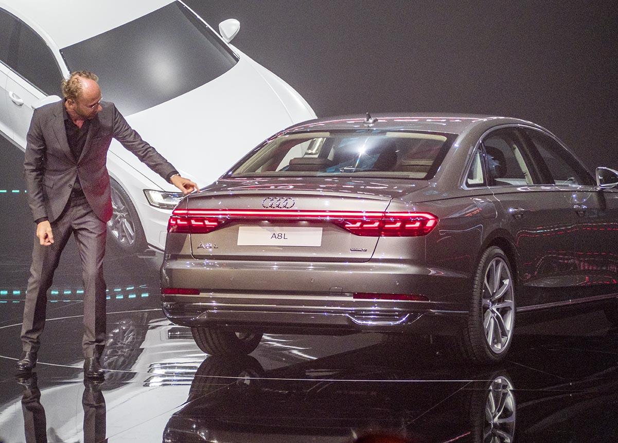 Audis designchef Marc Lichter berättar om Audis nya designspråk vid världspremiären.
